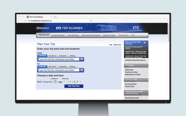 ETS Trip Planner: Web App